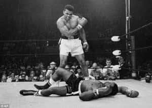Deze foto, die in Obama's oval office hangt is een symbool geworden voor Muhammad Ali's doorzettingsvermogen.