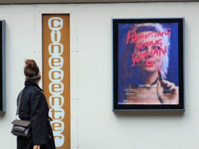 Promising Young Woman promotional material at cinema