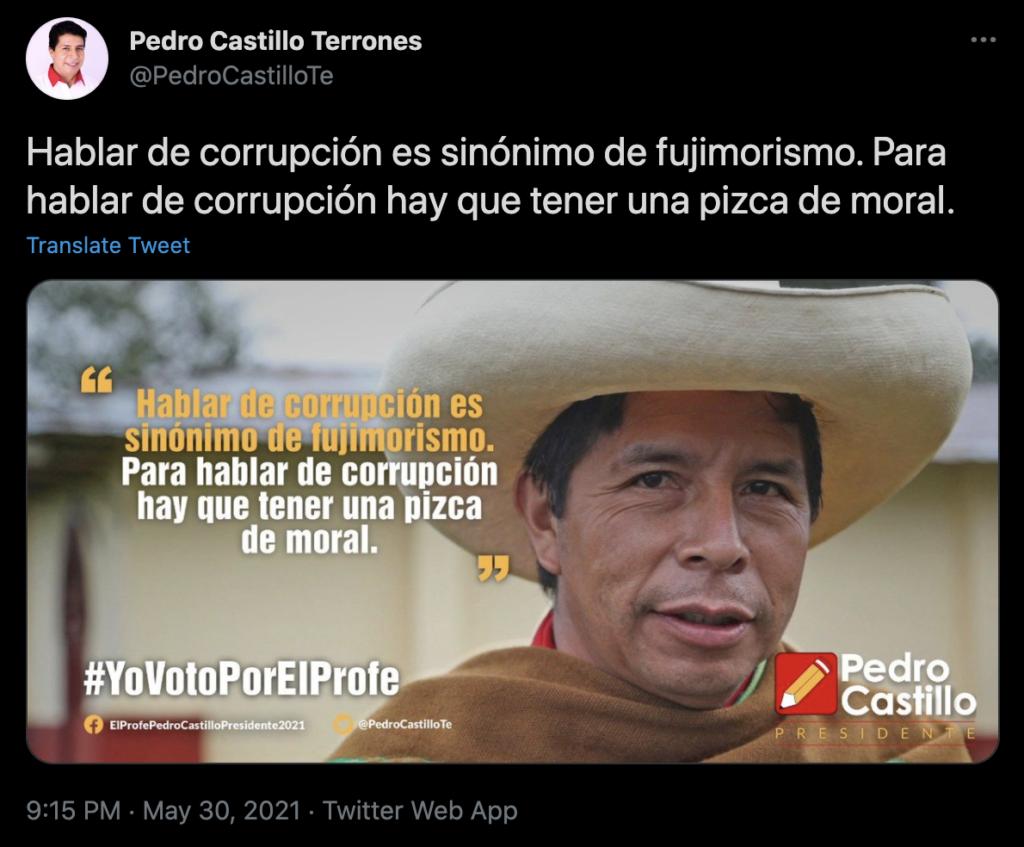 Pedro Castillo Tweet