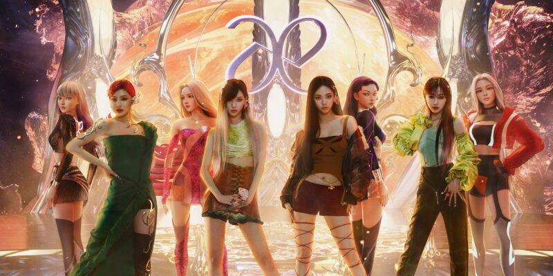 Illustration of the K-POP group, AESPA