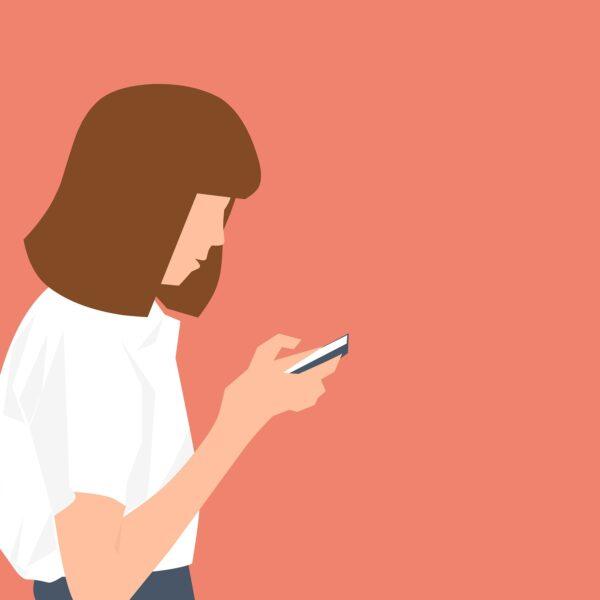 Girl smartphone internet